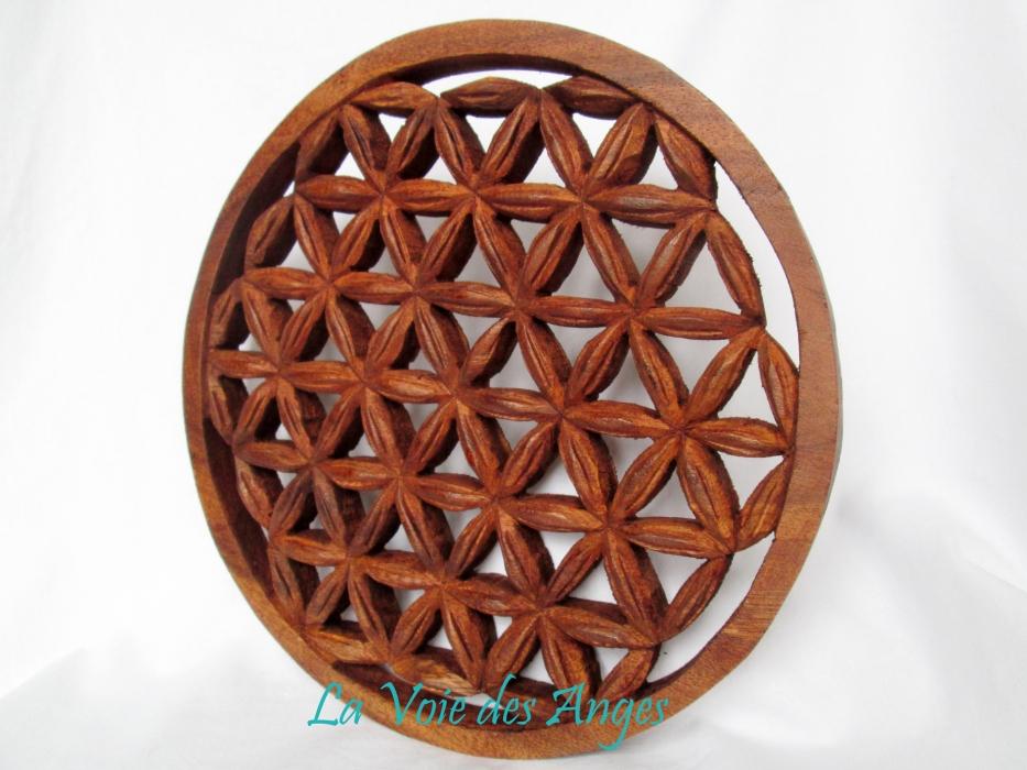 fleur de vie en bois pentacles autel catalogue2 la. Black Bedroom Furniture Sets. Home Design Ideas