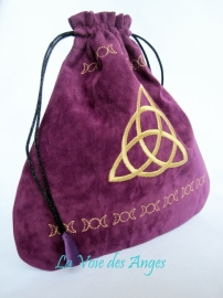 Bourse Velours Violette - Charmed
