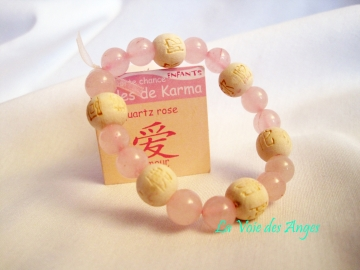 Bracelet karma Enfant Quartz Rose